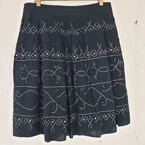 Allison Taylor 12 Boho blk skirt